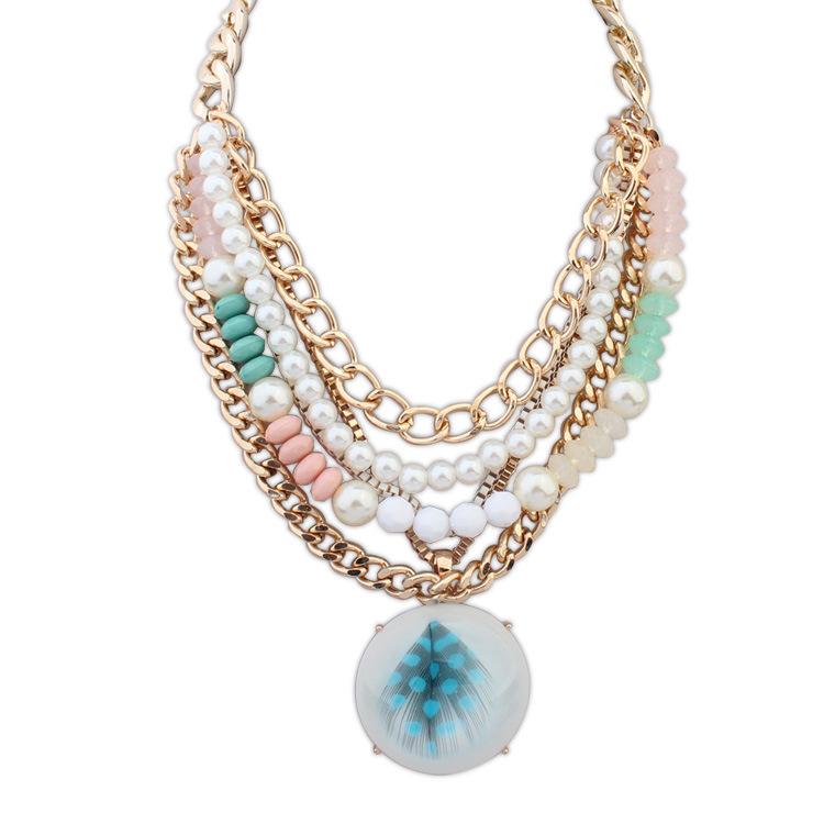 Women-Star-Graceful-Pearl-Jewelry-Statement-Pearls-Beads-Golden-Chain-Choker-Necklace-For-Women-Dress-Pendant
